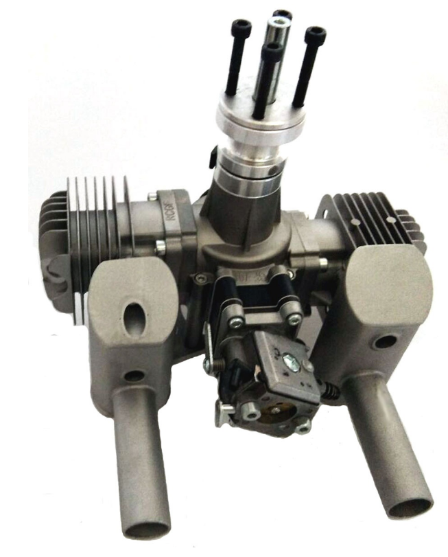 Image 10 of RCGF 70cc TWIN Gas Engine (new version w/angled plugs)