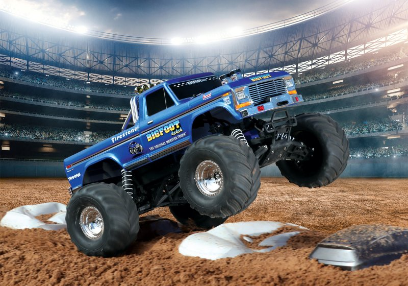 Image 2 of TRAXXAS BIGFOOT No. 1, 1/10 Scale 2WD Monster Truck, Waterproof, RTR