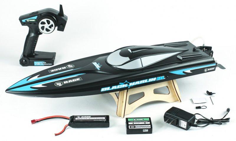 Image 0 of Rage Black Marlin Brushless RTR Boat