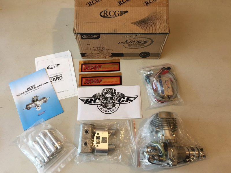 Image 0 of RCGF 35cc RE Stinger Rear exhaust & Rear carb r/c aircraft engine gasoline