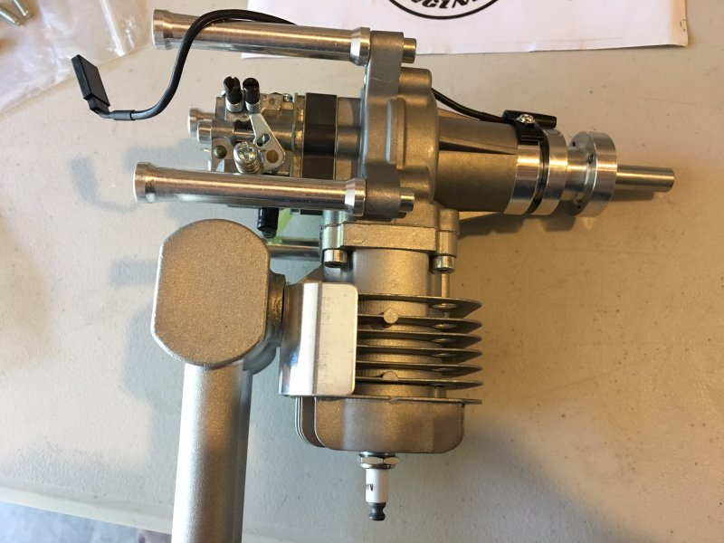 Image 4 of RCGF 35cc RE Rear exhaust & Rear carb r/c aircraft engine gasoline