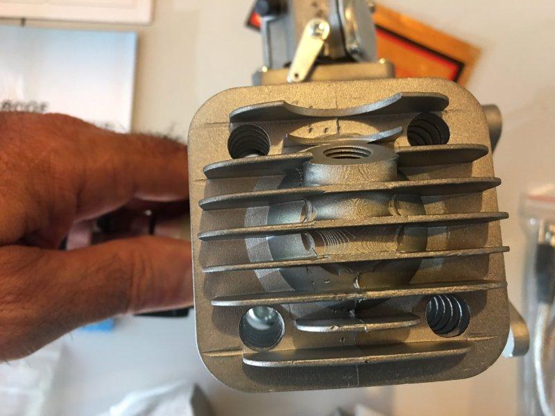 Image 2 of RCGF 70cc TWIN Gas Engine (new version w/angled plugs)