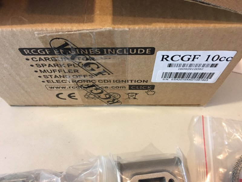 Image 3 of RCGF 10CC Gas Engine BM
