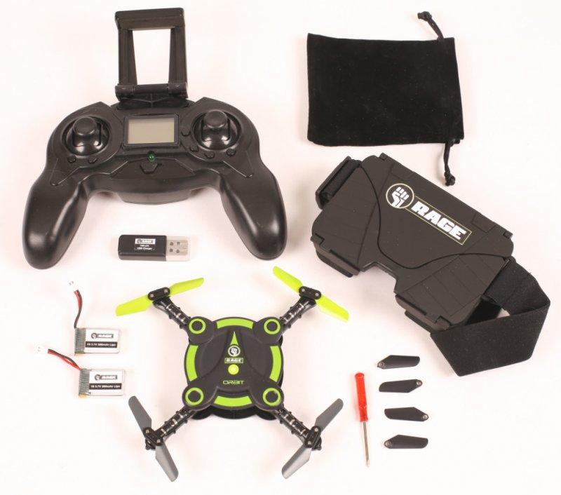 Image 0 of Rage Orbit FPV Pocket Drone RTF VR goggles included & 2 batteries