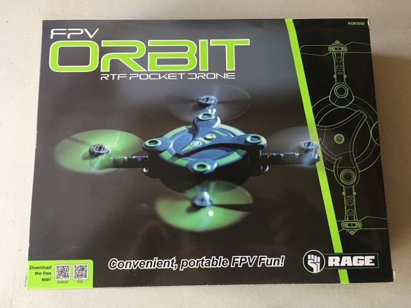 Image 3 of Rage Orbit FPV Pocket Drone RTF VR goggles included & 2 batteries