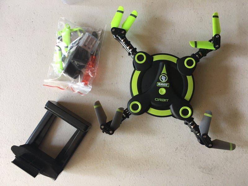 Image 7 of Rage Orbit FPV Pocket Drone RTF VR goggles included & 2 batteries