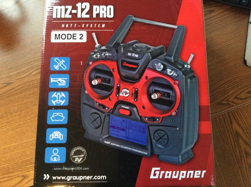 Image 3 of Graupner mz-12 PRO 12 Channel 2.4GHz HoTT Transmitter with Falcon 12 Receiver