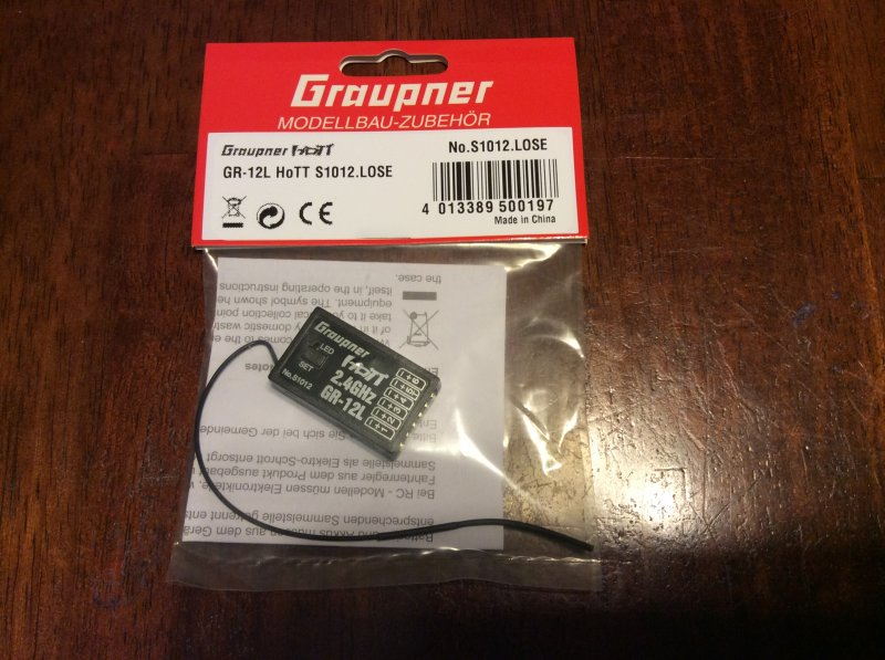 Image 0 of Graupner GR-12L 6 Channel 2.4GHz HoTT Receiver