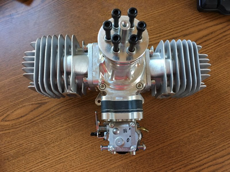 Image 2 of RCGF 120CC TWIN Cylinder Gas Engine version 4