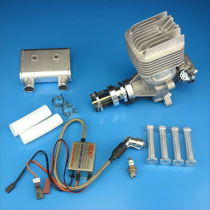 Image 0 of DLE 55RA Rear carb and Rear Exhaust gasoline aircraft engine