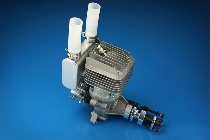 Image 2 of DLE 55RA Rear carb and Rear Exhaust gasoline aircraft engine