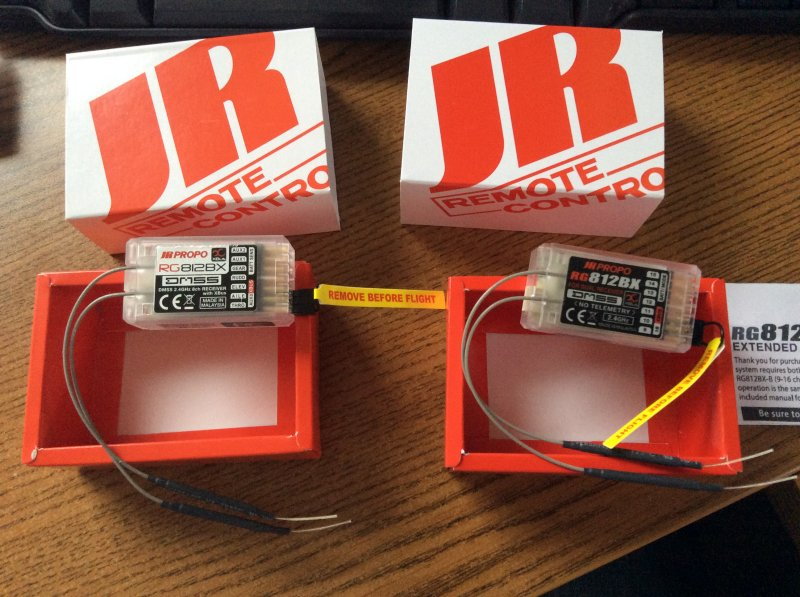 Image 0 of JR COMBO RG812BX-A & RG812BX-B 8CH 2.4GHZ DMSS RECEIVERS 16 EXTENDED CHANNELS