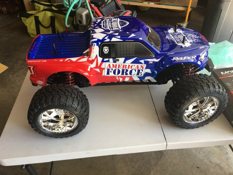 Image 0 of Reeper American Force Edition Mega Monster Truck 1/7 RTR, Brushless w/ Hobbywing