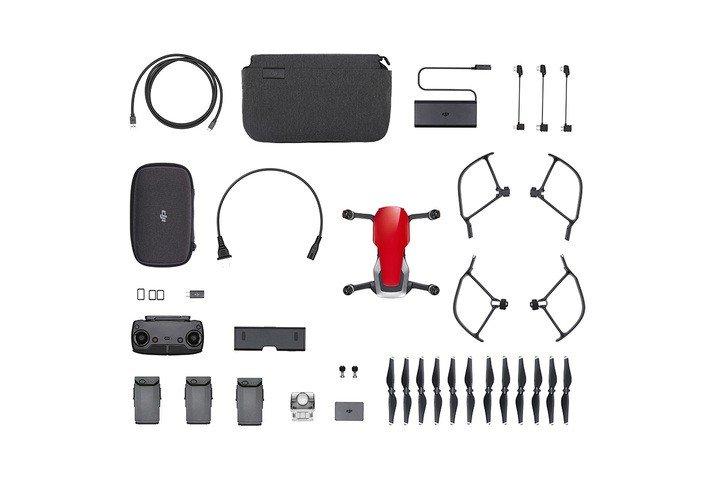 Image 5 of DJI Mavic Air - Ultraportable 4K Quadcopter - Fly More Combo - Flame Red