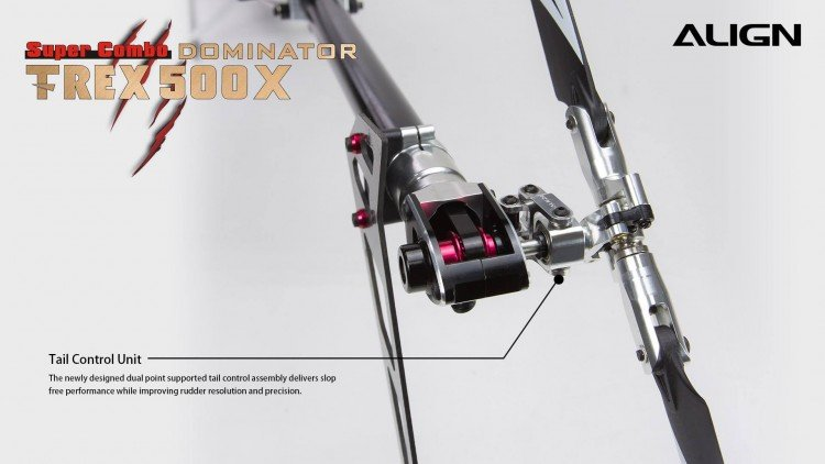Image 1 of Align T-Rex 500X Dominator Super Combo Helicopter with DS530/DS535 Servos