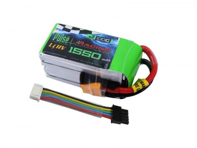 Image 0 of PULSE 1550mah 4S 15.2V 100C - LiPo Battery With Removable Balance Wires