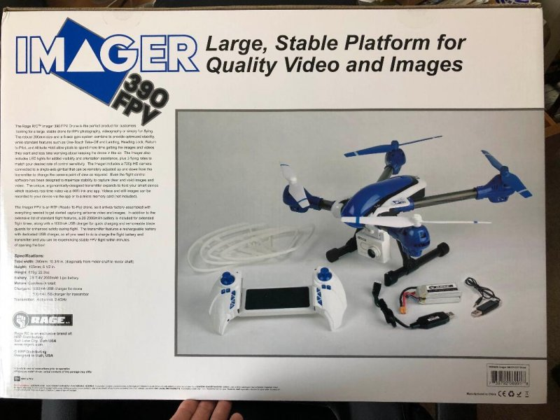 Image 6 of Rage Imager 390 FPV RTF Drone New Years special