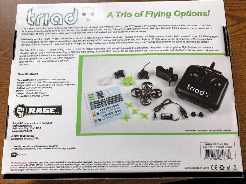 Image 6 of Rage Triad FPV 3-in-1 Pocket Drone
