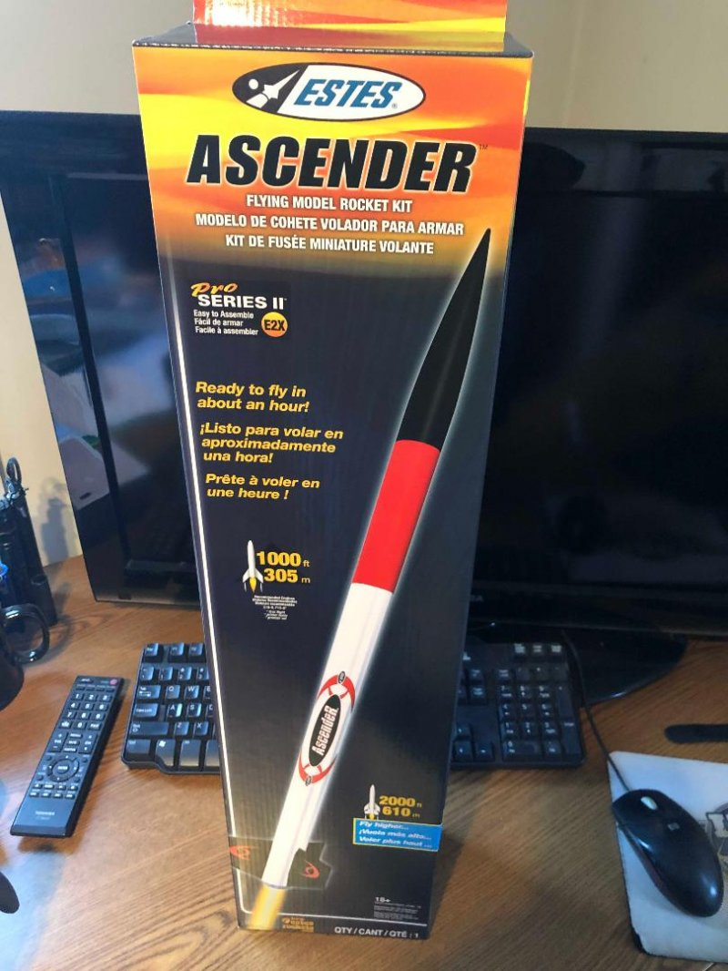 Image 1 of Este's Ascender Model Rocket Kit, Pro Series II E2X