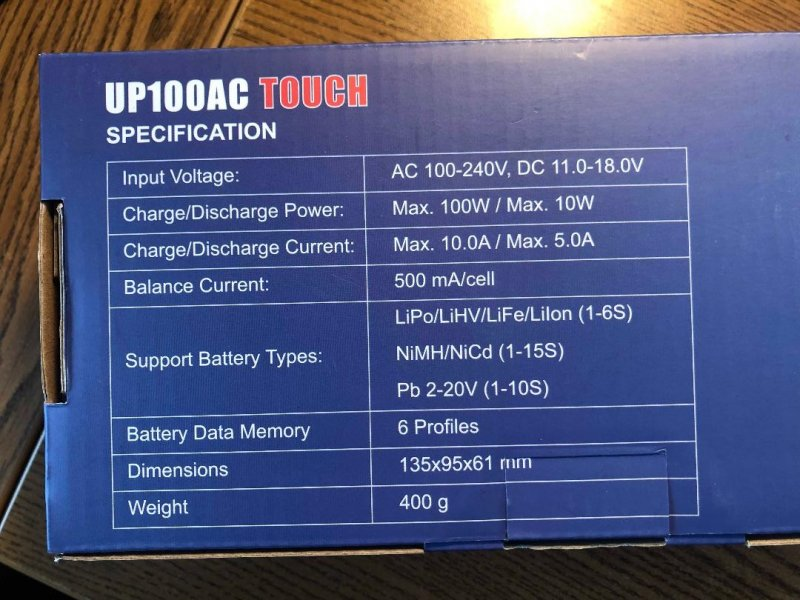 Image 4 of UP100AC Touch 100W Multi- Chemistry AC/DC Charger