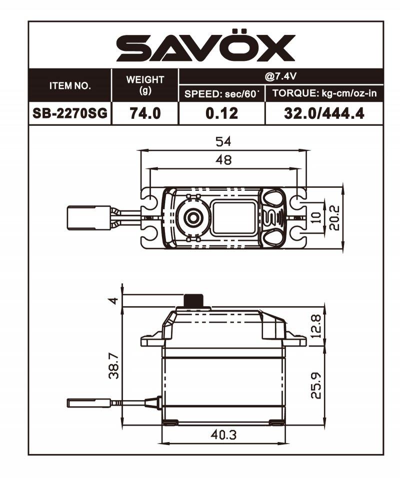 Image 3 of Savox 2270SG Monster Torque Brushless FREE shirt