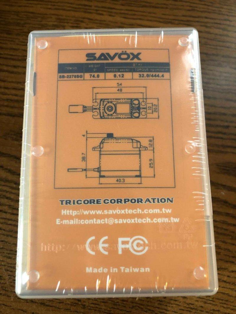 Image 1 of Savox 2270SG Monster Torque Brushless FREE shirt