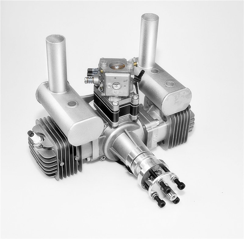 Image 4 of RCGF 70cc TWIN Gas Engine (new version w/angled plugs)