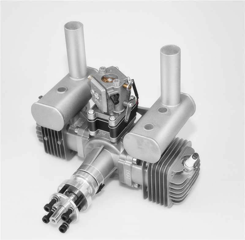 Image 5 of RCGF 70cc TWIN Gas Engine (new version w/angled plugs)