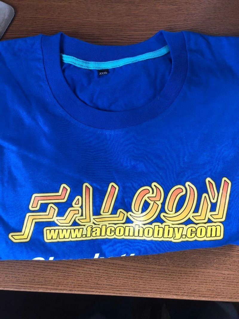 Image 0 of Falcon Blue w/ yellow logo T-shirt XXXL