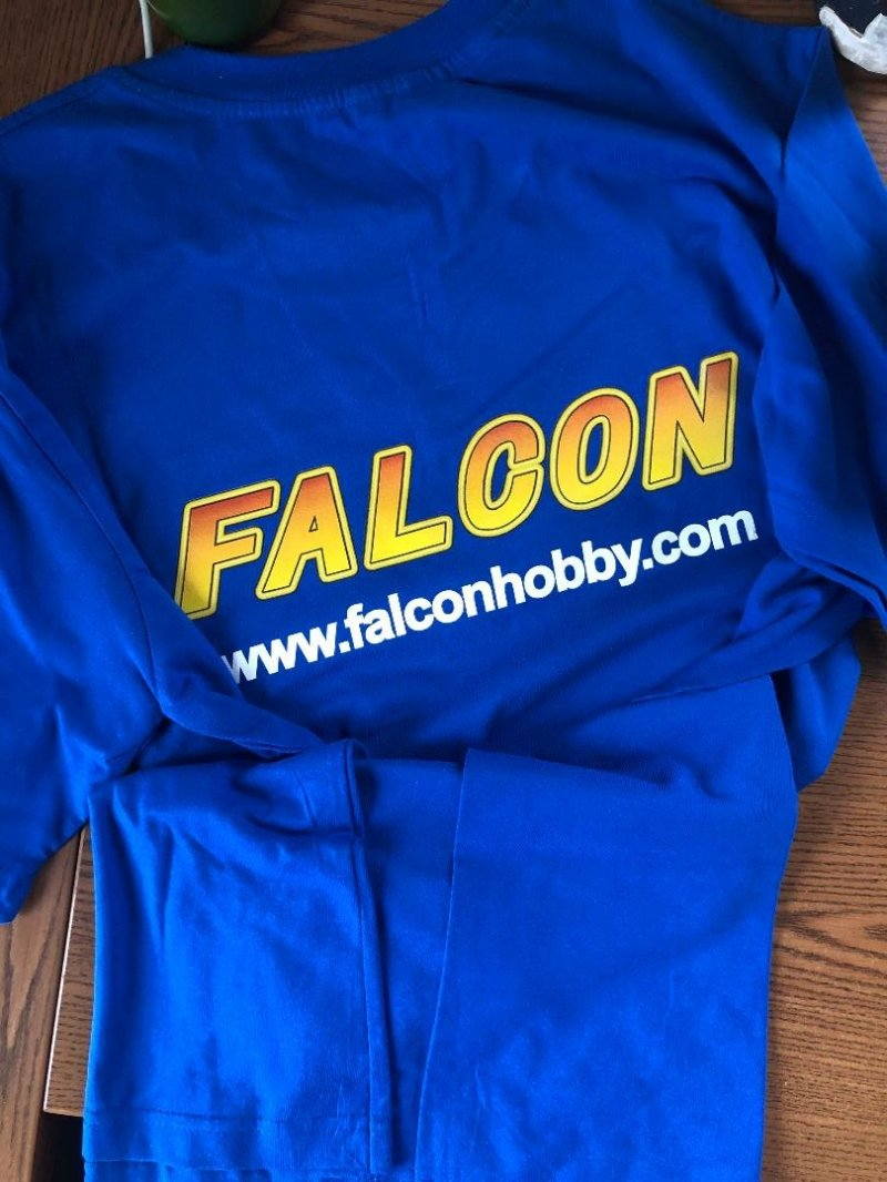 Image 1 of Falcon Blue w/ yellow logo T-shirt XL