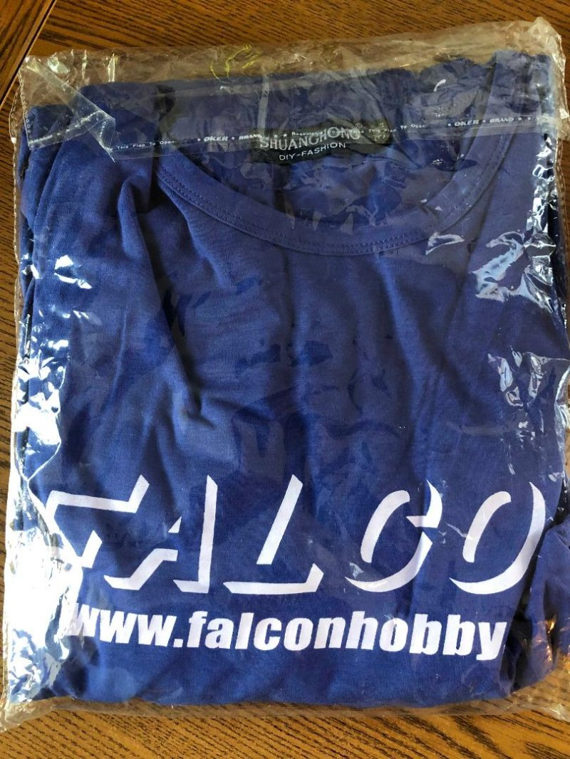 Image 0 of Falcon Blue w/white logo T-shirt L