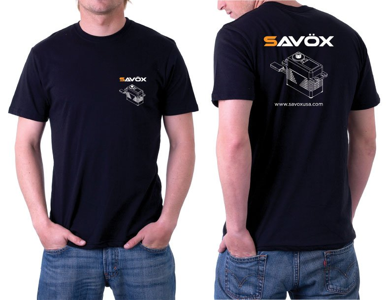Image 4 of SAVOX (Lot of 4) 2290SG Monster Brushless Servo, Black Edition FREE Savox shirt