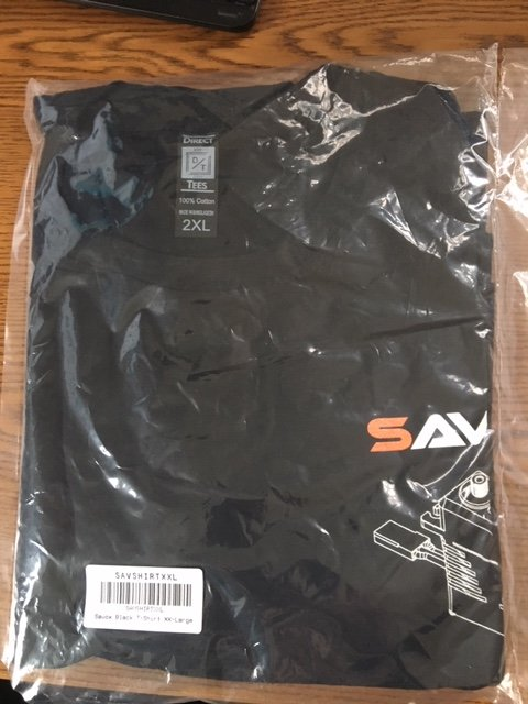 Image 1 of Savox Black T-Shirt XX-Large