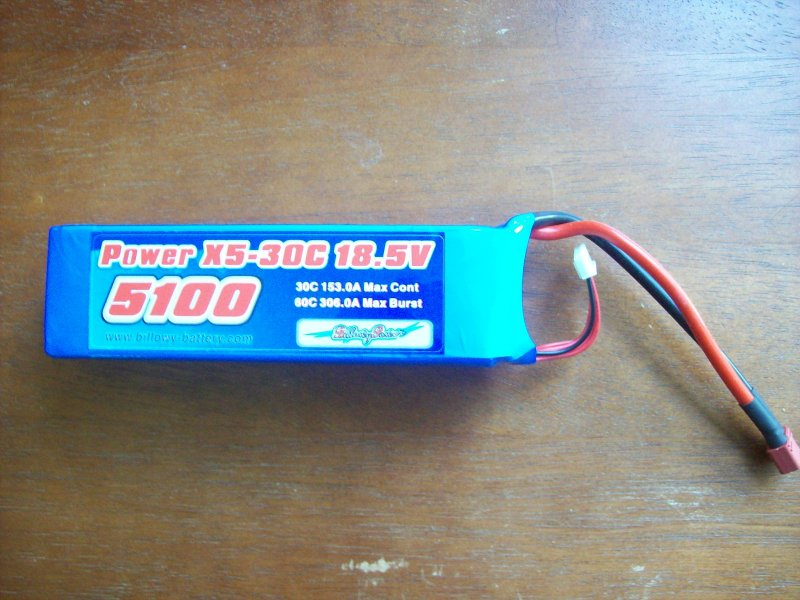Image 0 of 5100mah 18.5volt 30c 5 cell lithium polymer