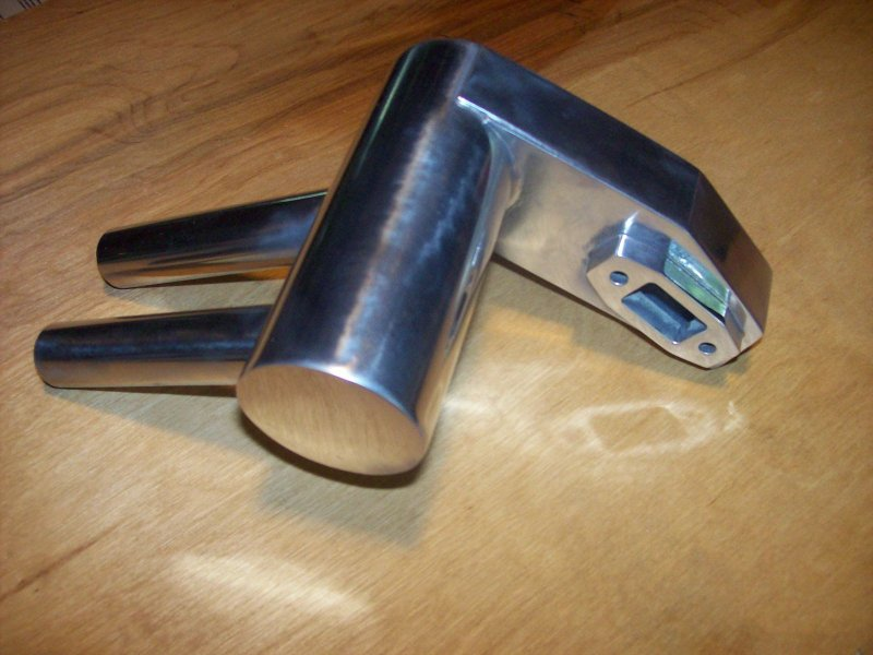 Image 0 of Pitts Muffler for DA50, DLE55, DL50 50cc size engine