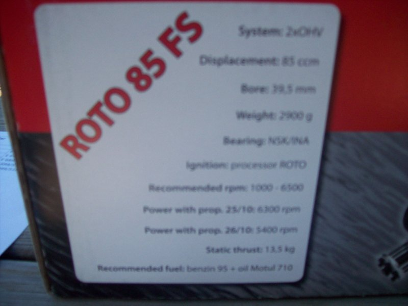 Image 3 of ROTO 85 FS Four Stroke Gasoline Aircraft Engine