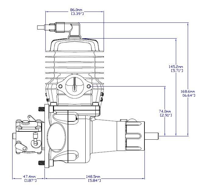 Image 2 of DA 85 Desert Aircraft Gas Engine