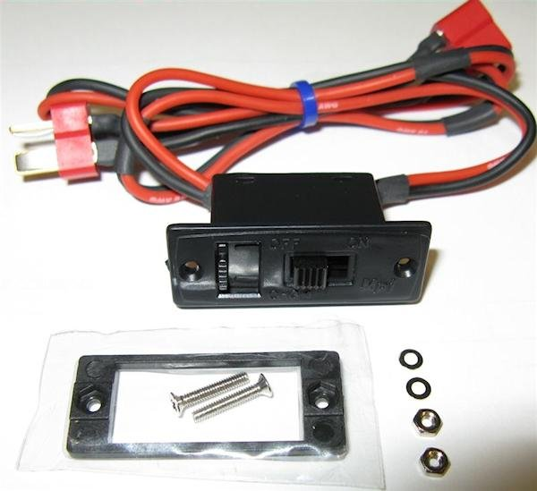 Image 0 of Deans charge jack switch 18 Ga wires 12 long