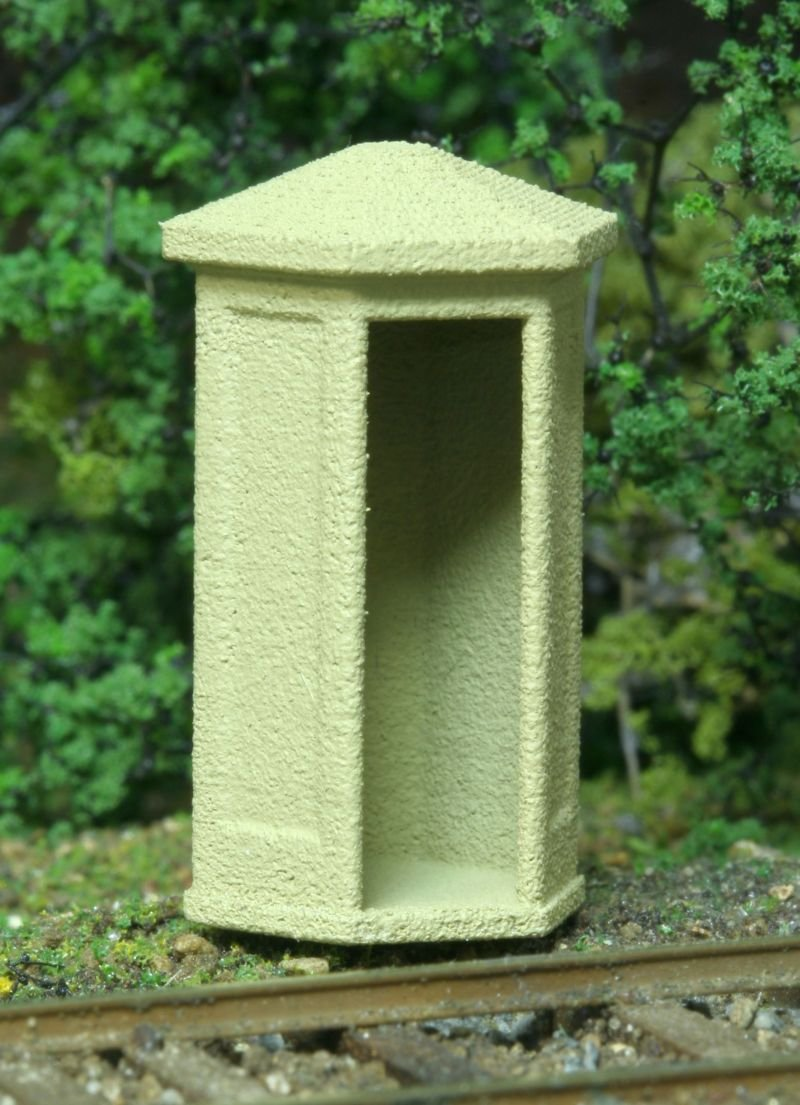 HO Scale Concrete Phone Booth No Smoke Jack