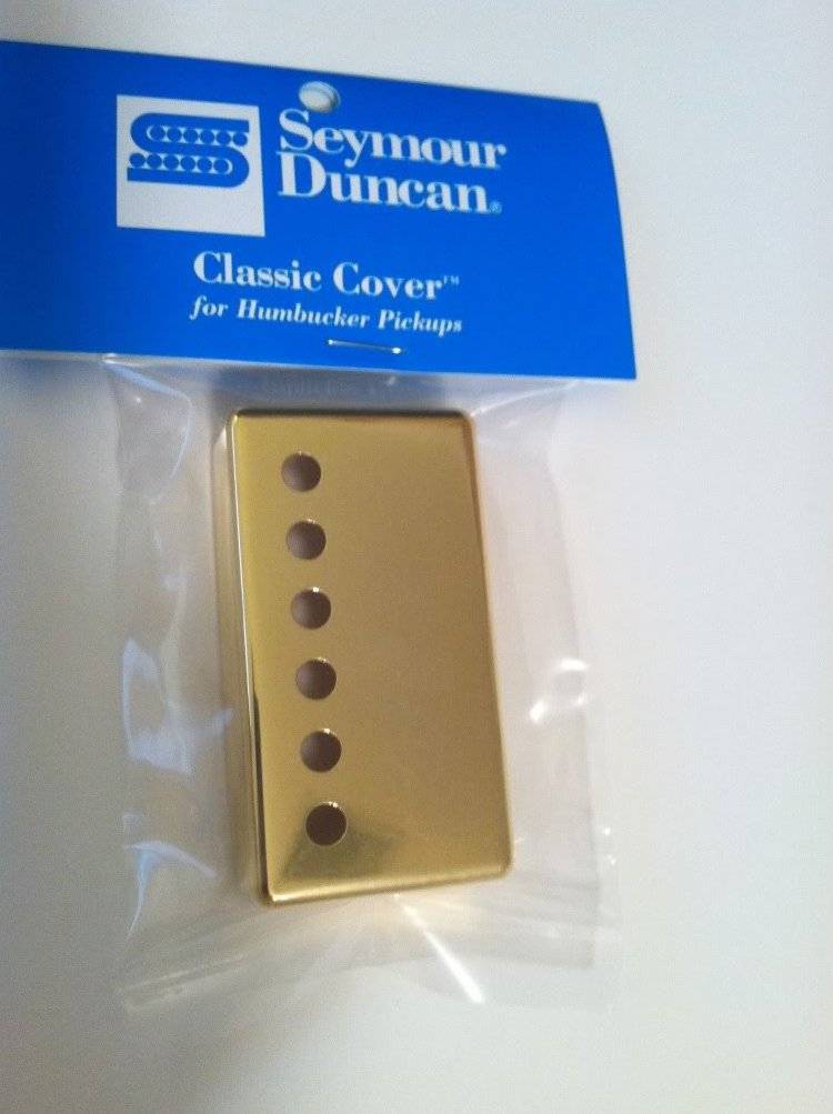 Image 0 of Seymour Duncan Classic Cover Gold Humbucker Pickup Cover