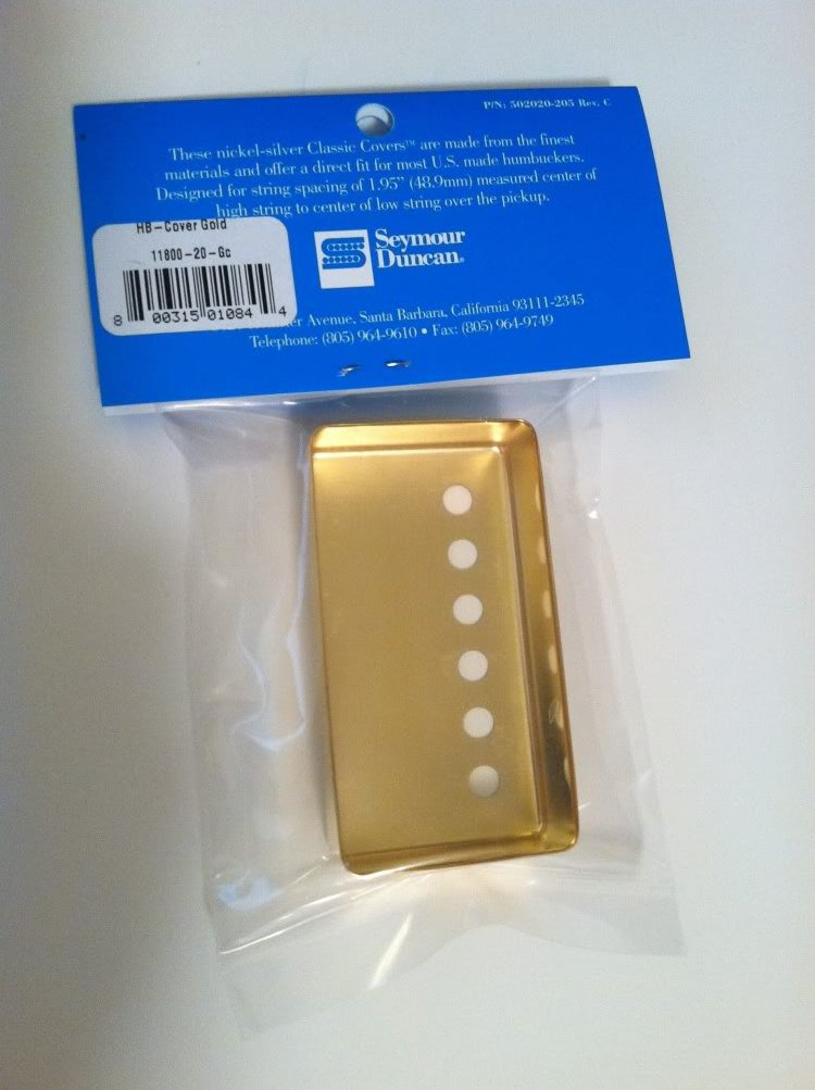 Image 2 of Seymour Duncan Classic Cover Gold Humbucker Pickup Cover