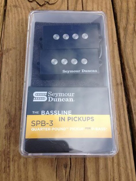 Image 0 of Seymour Duncan SPB3 Quarter Pound P Bass Pickup SET Fender Precision Bass SPB-3