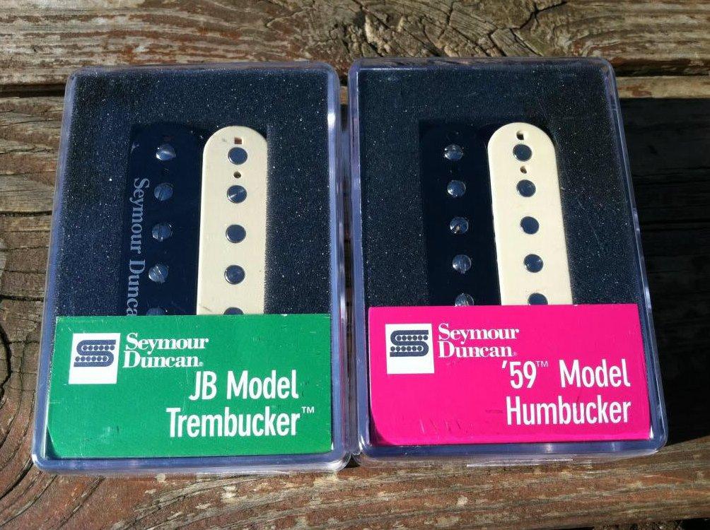 Seymour Duncan TB-4 JB & SH-1n 59 REVERSE ZEBRA Trembucker PICKUP SET