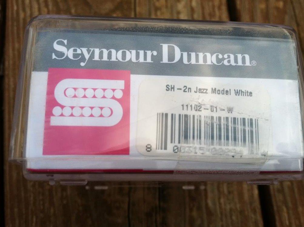 seymour duncan sh 2n jazz model humbucker guitar pickup white neck rhythm new. Black Bedroom Furniture Sets. Home Design Ideas