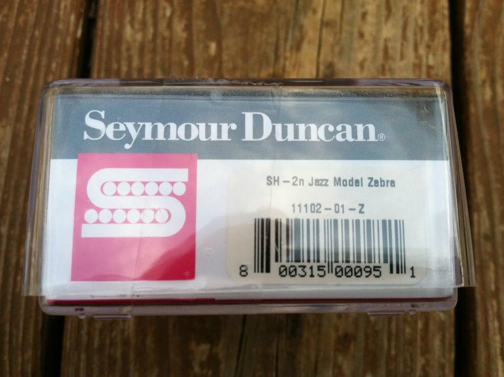 seymour duncan sh 2n jazz model humbucker guitar pickup zebra neck rhythm new. Black Bedroom Furniture Sets. Home Design Ideas