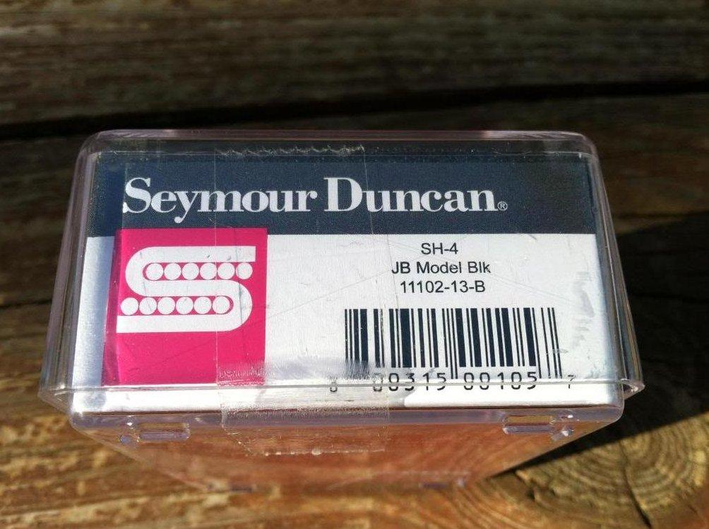 Image 2 of Seymour Duncan JB MODEL HUMBUCKER Guitar Pickup, BLACK SH-4 Bridge Position NEW