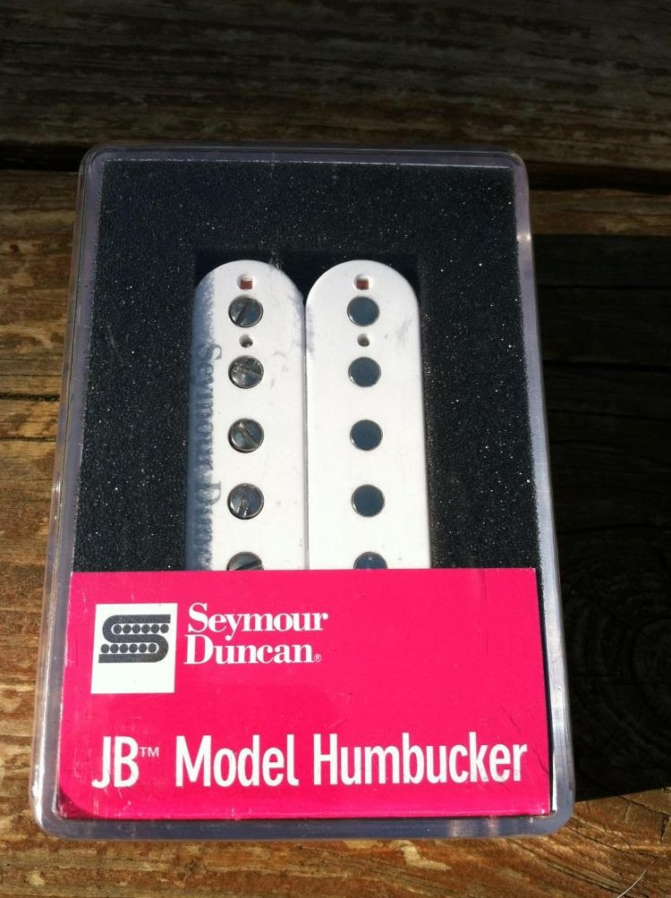 Seymour Duncan SH-4 JB Model Humbucker PICKUP White Electric Guitar