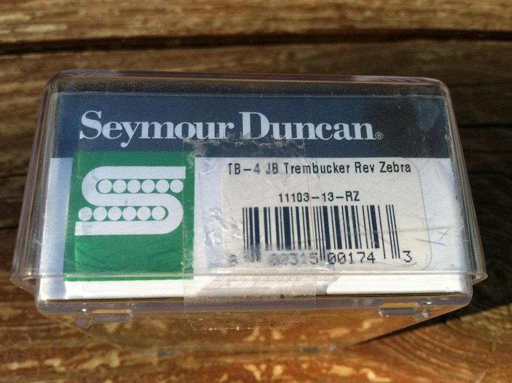 Image 2 of Seymour Duncan TB-4 JB Trembucker Humbucker PICKUP Reverse Zebra Bridge Guitar