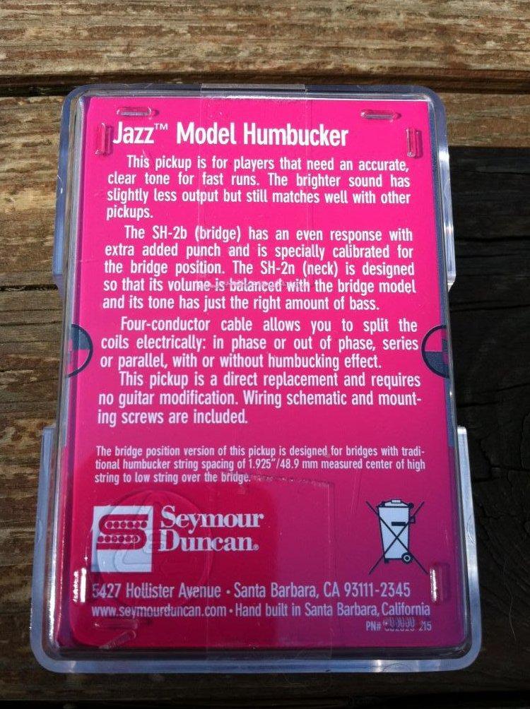Image 1 of Seymour Duncan Sh-2n Jazz SILVER Nickel Humbucker Electric Guitar Pickup