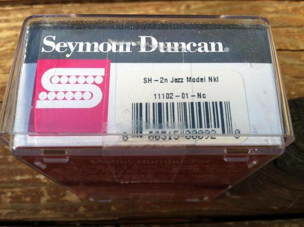 Image 2 of Seymour Duncan Sh-2n Jazz SILVER Nickel Humbucker Electric Guitar Pickup
